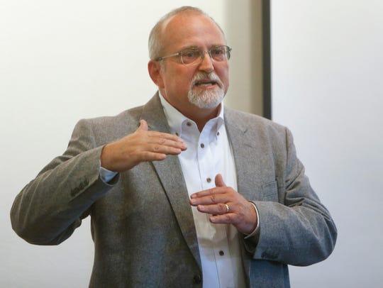 OCH Health System CEO Paul Taylor addresses employees