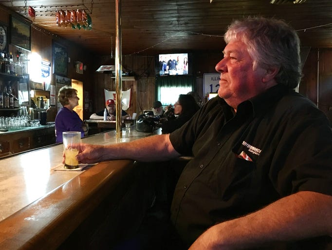 Bob Smith, owner of a glass repair business in Tazewell