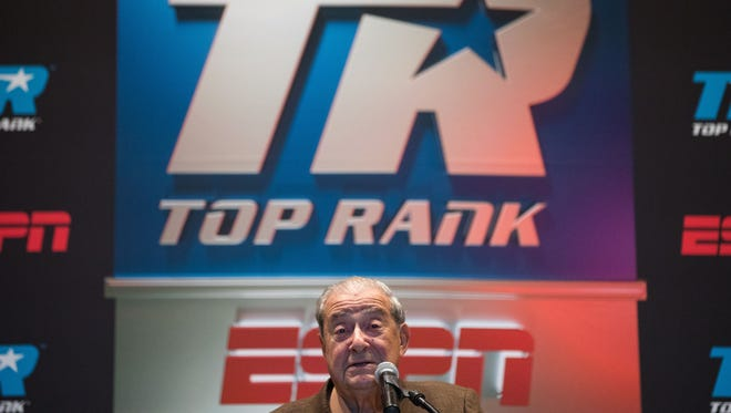 Boxing promoter Bob Arum announces a fight card for February 3rd at the American Bank Center that will air on ESPN.