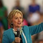 Democratic presidential front-runner Hillary Clinton