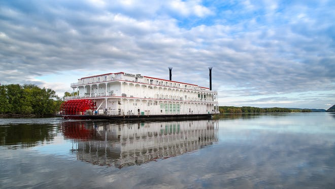 The American Duchess, the newest paddle wheeler built by the American Queen Steamboat Company.