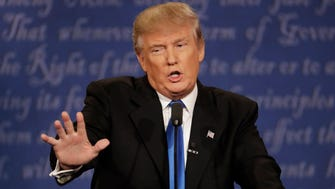 Donald Trump in the first presidential debate at Hofstra University on Sept. 26, 2016.