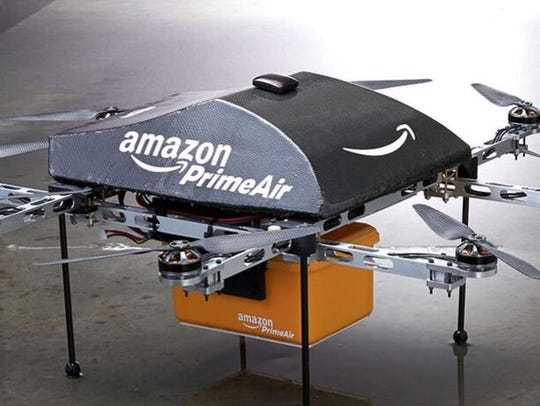 Amazon testing delivery by drone, CEO Bezos says