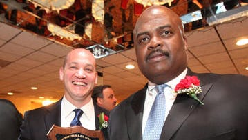 (File photo) Troopers Seamus Lyons, left, and Noel Nelson at the Haverstraw Elks Club.