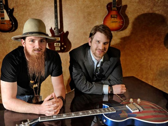 From left, Nashville country artist Tim Montana and