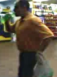 Police are seeking a suspect in relation to a case involving credit card fraud.