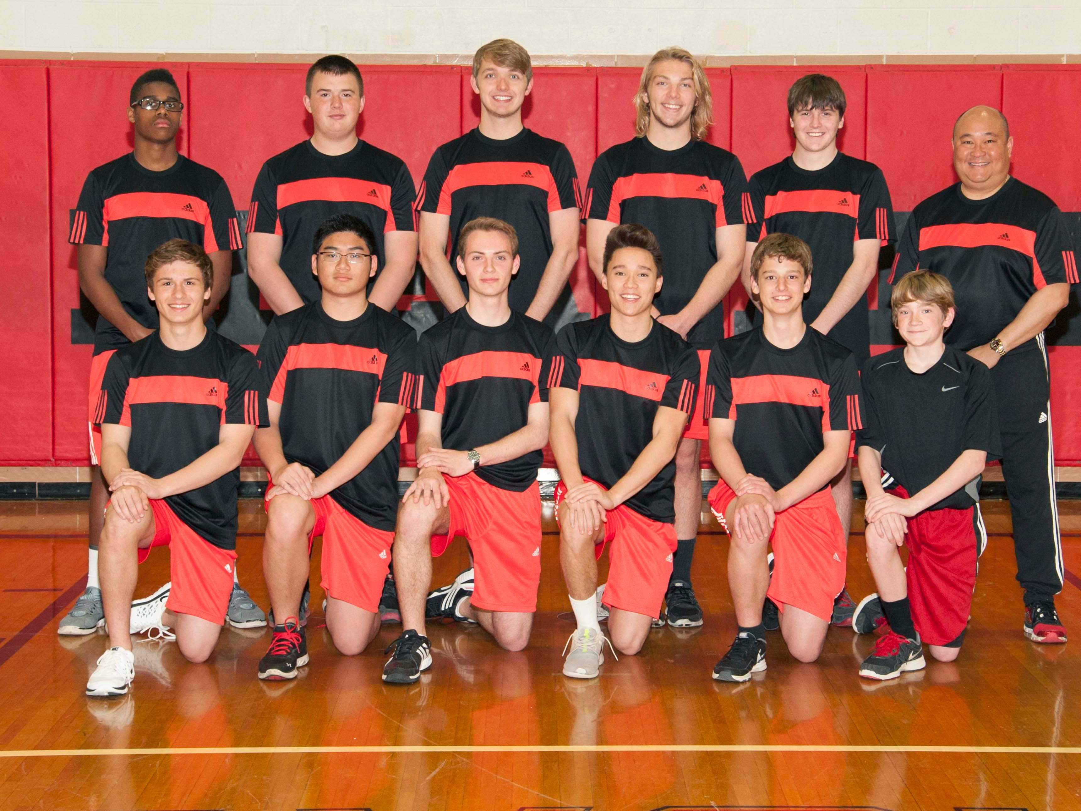 The Pleasant 2015 varsity boys tennis team is, front row from left, Drayson Campbell, Allen Zhang, Robert Wiley, Christian Vaflor and Issac Zachmann. Back row is Kaleb Taylor, Adam Meyer, Zac Howerfield, Grant Wilson, Garrett Coppler and coach Ed Vaflor.
