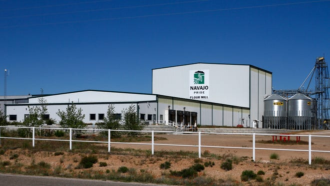 The Navajo Agricultural Products Industry's Navajo Pride Flour Mill is seen in April off New Mexico Highway 371 south of Farmington.