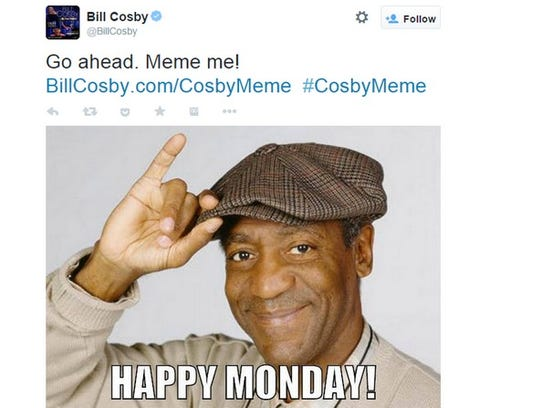 "Bill Cosby asks followers to ""Meme me!"""
