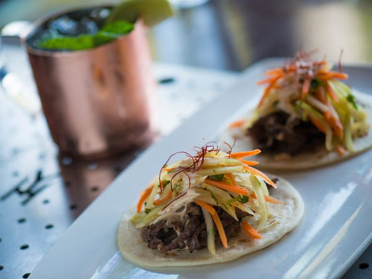 Korean short rib tacos at the Yard House, opening March 25 at Circle Centre Mall in downtown Indy.