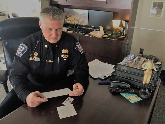 Borough of West York Police Chief Matt Millsaps, seen at his desk in this file photo.