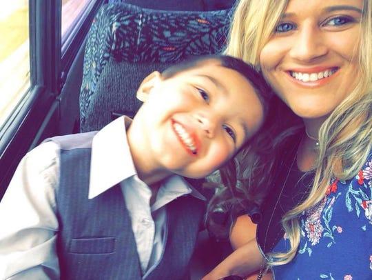 Lauren Ruark and her son Cameron.