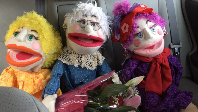 Puppets Minnie, Nora and Penny star as three Menno Haven locations in Northwinds Productions