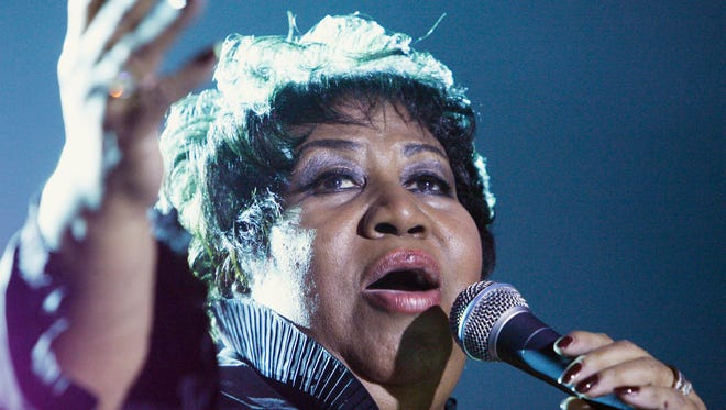Aretha Franklin performed at Hoosier Park Racing and Casino in Anderson in 2008.