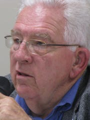 George Wood is a candidate for the Broadlawns Medical Center Board of Trustees. He spoke at a forum Wednesday, Oct. 22, in Des Moines. Broadlawns is Polk County's public hospital.
