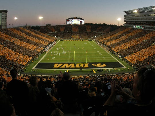 Fans fill Kinnick Stadium for the Hawkeyes' game against