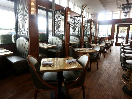 The dining room at Paradiso at the Grand Theatre in