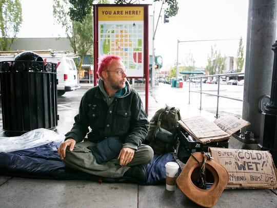 Robbie Peddycoart talks about being homeless in Downtown