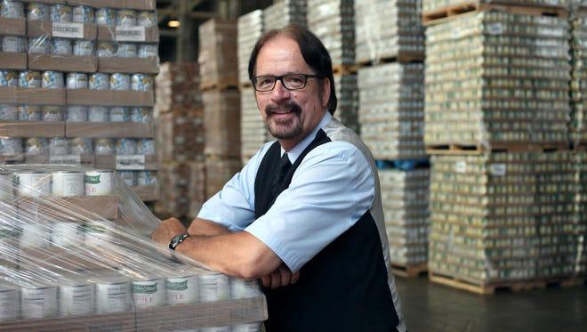 Frank Kubic, food program director at Focus Hope in their food warehouse in Detroit.