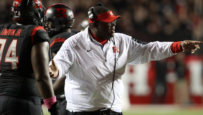 Rutgers running backs coach Norries Wilson filled in as interim head coach while Kyle Flood was on a three-game suspension and after he got fired.