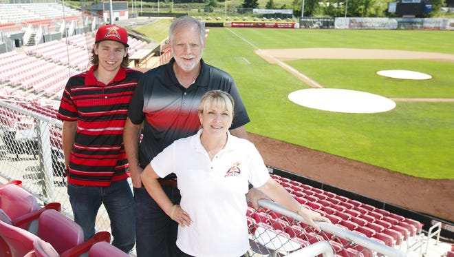 Volcanoes co-owners Jerry and Lisa Walker, joined by their son Mickey, have owned the team for 20 years.