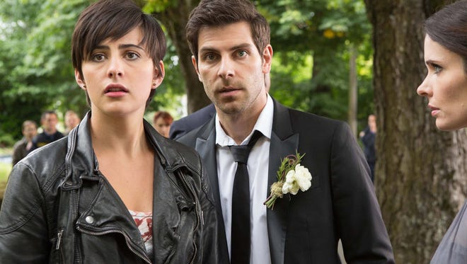 """From left: Jacqueline Toboni, David Giuntoli and Bitsie Tulloch in """"Grimm."""" The fourth season begins at 8 p.m.Friday on NBC."""