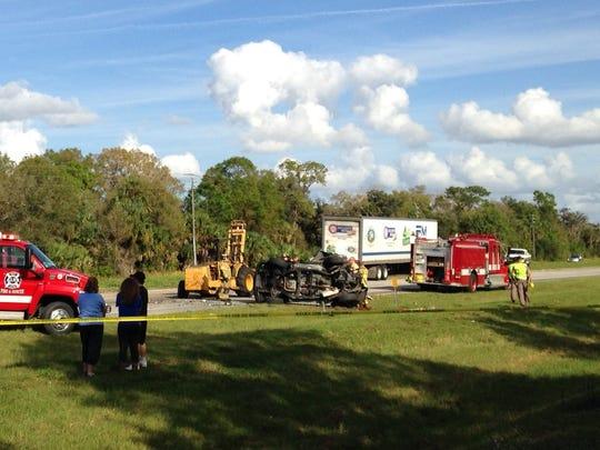 Multi-vehicle fatal crash on Palm Beach Blvd. in Alva, Florida.