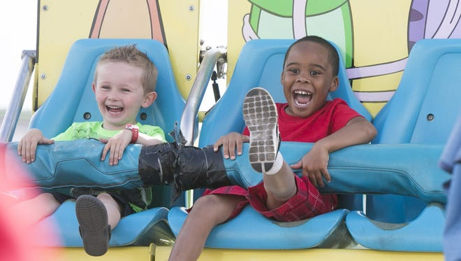 It's April and that means it's time for the Maricopa County Fair, April 11-15. There are thrill rides and there are giggle rides. This one is all giggles.