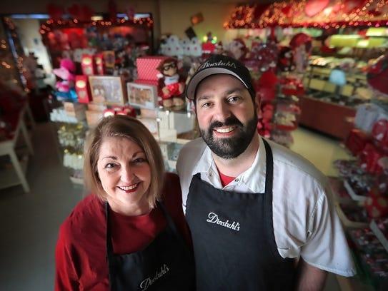 Dinstuhl's President Rebecca Dinstuhl and her son Andrew