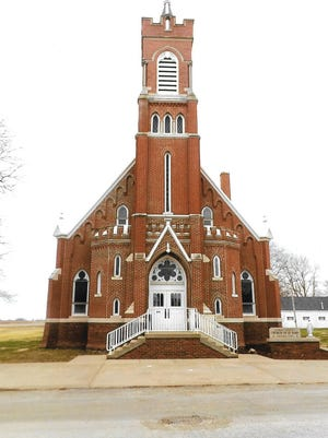 St. Mary's Catholic Church in Nichols was restored after a fire in 1920. It was originally built in 1874.