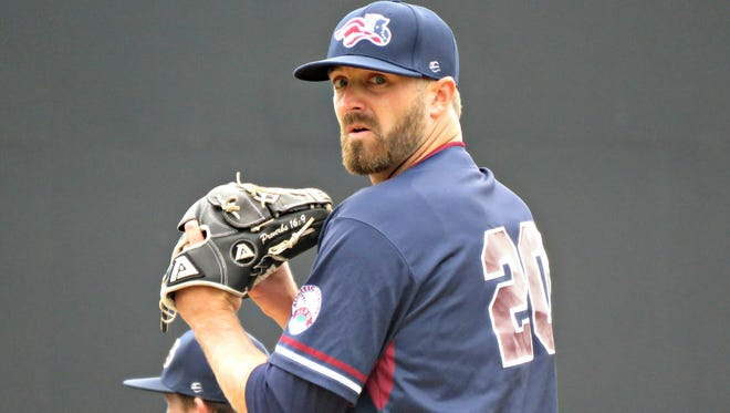 A.J. Achter is 2-0 with a 3.00 ERA in his first nine appearances with the Somerset Patriots.