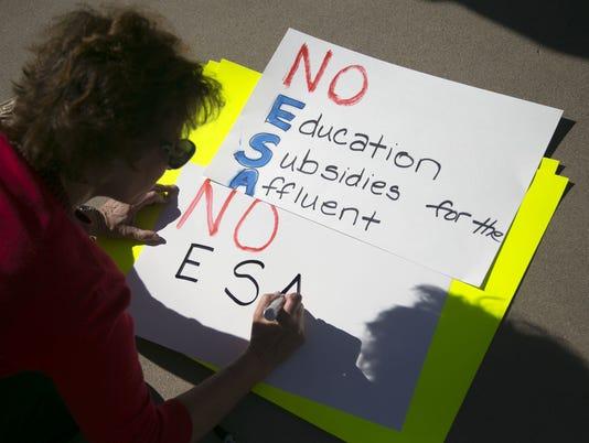 school voucher protest