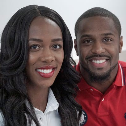 Olympians Tiffany and Jeff Porter.
