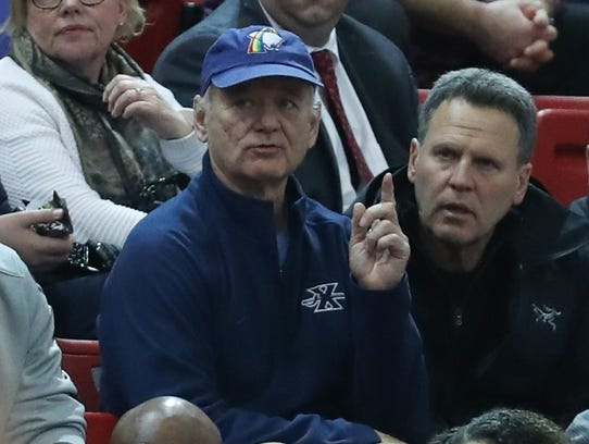 American actor Bill Murray at the game between the