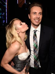 Kristen Bell and Dax Shepard backstage at the People's