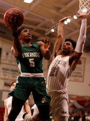 Parkview's Damarcus Mason looks to score against Joplin