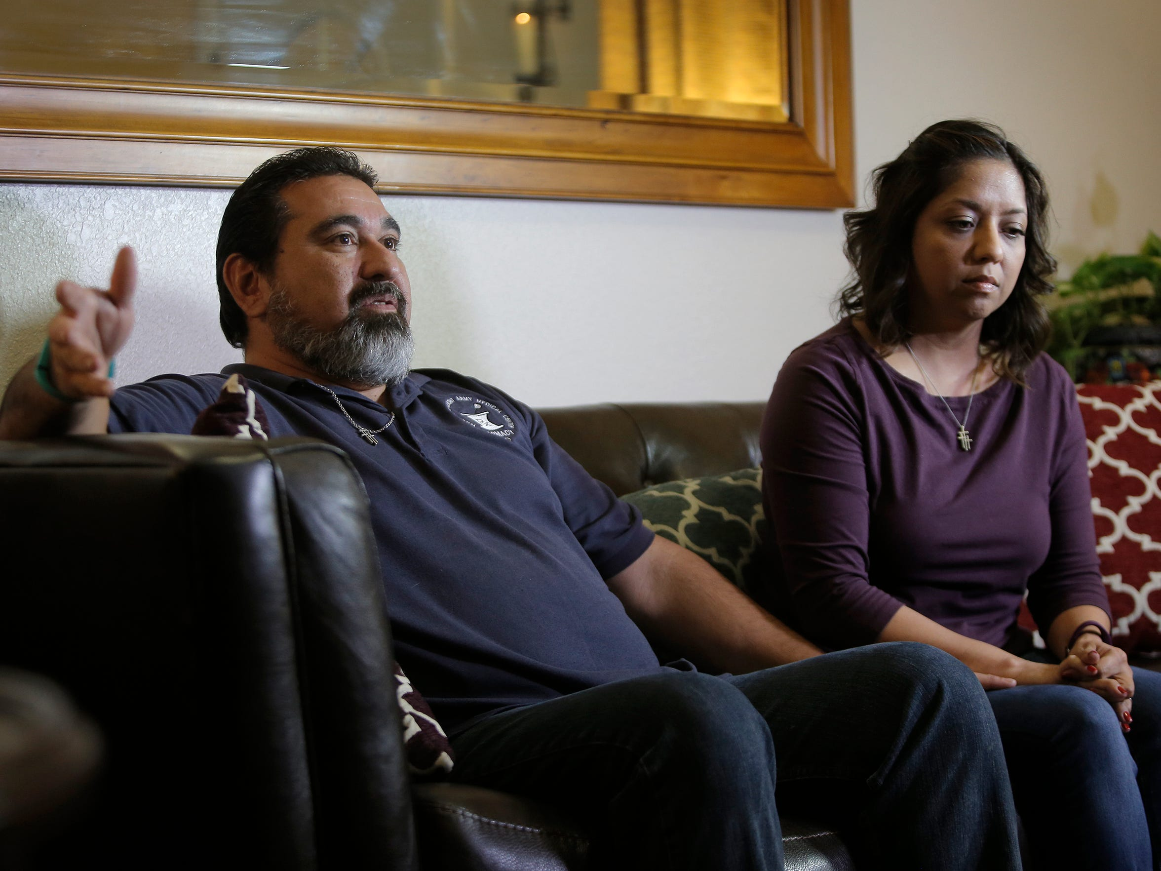 Joshua and Isaiah Deal's stepfather, Richard Cisneros, and their mother, Dee Cisneros, are trying to put their lives back together after the brothers were killed in a crash Christmas Eve.