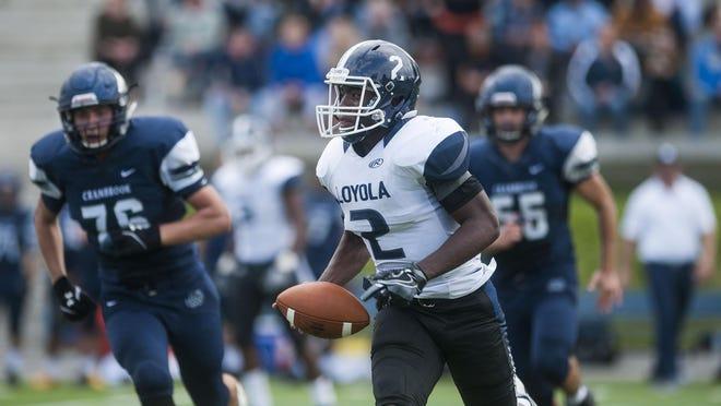 Detroit Loyola quarterback Price Watkins had a 36-yard touchdown run and an interception on Saturday.