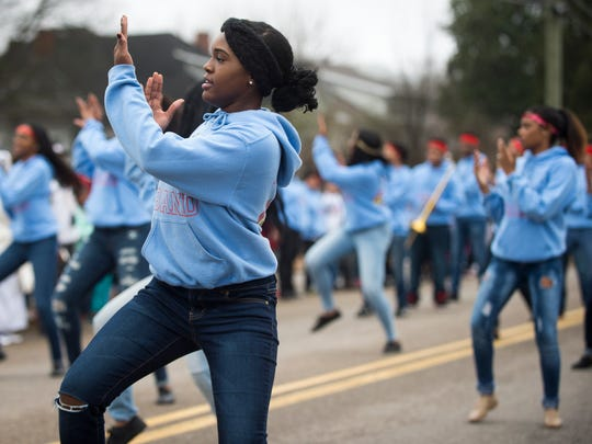 The annual Dr. Martin Luther King Jr. parade moves down Martin Luther King Jr. Avenue in Knoxville on Jan. 16, 2017.