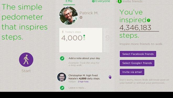 Noom Walk is a free pedometer app