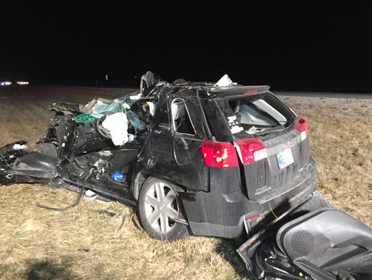 A second vehicle in a fatal three-vehicle crash Friday,