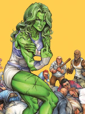 She-Hulk tackles bad guys on the streets and in the courtroom in her new Marvel Comics series.