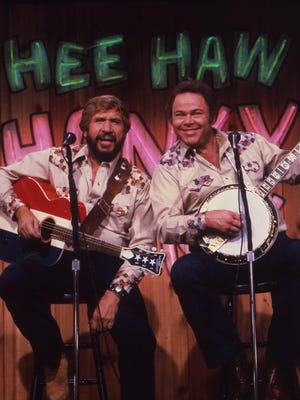The original Hee Haw's Buck Owens, left, and Roy Clark won't be at Saturday's Hee Haw Variety Show, presented by Clarksville Sunset Rotary Club, but the music, food, fun and laughter will.