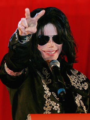 Michael Jackson addresses a press conference at the O2 arena in London, on March 5, 2009.