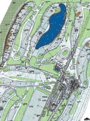A snapshot of the proposed Kohler Golf Course as laid out in an application to the U.S. Army Corps of Engineers.