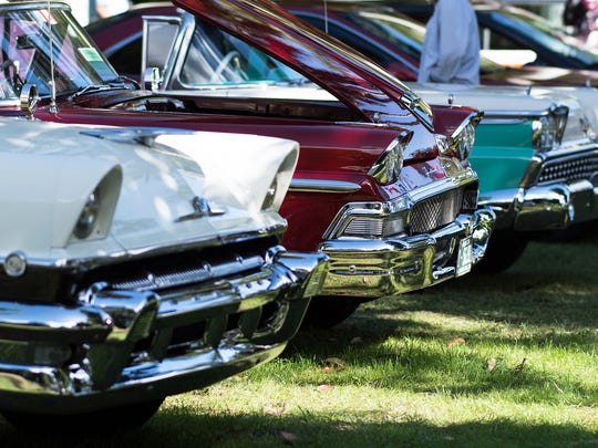 Chrome, chrome and more chrome wrapped the old classics during the Antique Lincoln, Mercury, Edsel, Fairlane and Woodie Car Exhibition at the Edison Ford Winter Estates in Fort Myers on Saturday, Jan.14.