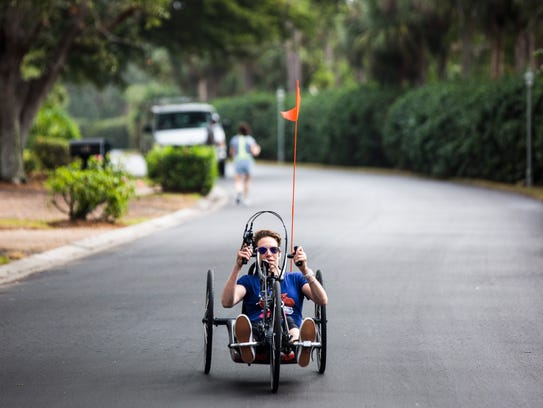 Edie Perkins trains for the Naples Daily News Half