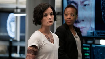 Jaimie Alexander, left, and Marianne Jean-Baptiste star in NBC's 'Blindspot,' TV's top-rated new drama of the 2015-16 season.