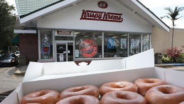 Krispy Kreme now offers a glazed donut-flavored soda in partnership with fellow North Carolina-based business Cheerwine, a brand of cherry soda.