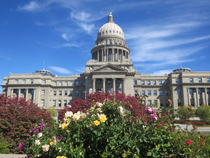 The Idaho State Capitol.